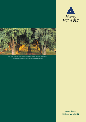 Maven Income & Growth VCT Plc annual report 2002