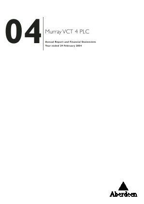 Maven Income & Growth VCT Plc annual report 2004
