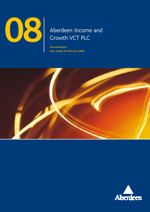 Maven Income & Growth VCT Plc annual report 2008