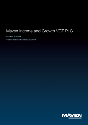 Maven Income & Growth VCT Plc annual report 2011