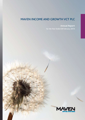 Maven Income & Growth VCT Plc annual report 2014