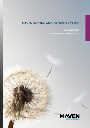 Maven Income & Growth VCT Plc annual report 2016