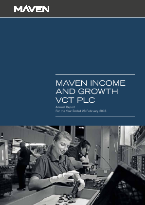 Maven Income & Growth VCT Plc annual report 2018
