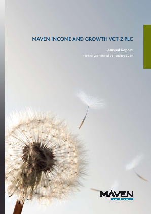 Maven Income & Growth VCT 2 Plc annual report 2014