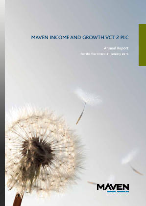 Maven Income & Growth VCT 2 Plc annual report 2016