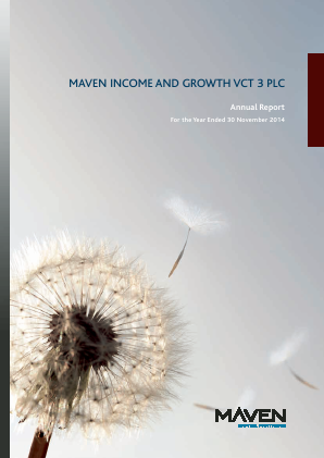 Maven Income & Growth VCT 3 Plc annual report 2014