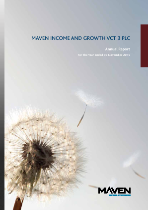Maven Income & Growth VCT 3 Plc annual report 2015