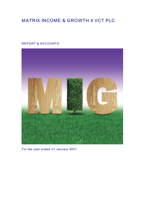 Mobeus Income & Growth 4 VCT Plc annual report 2007