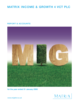 Mobeus Income & Growth 4 VCT Plc annual report 2008