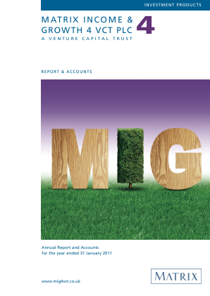 Mobeus Income & Growth 4 VCT Plc annual report 2011
