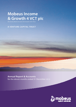 Mobeus Income & Growth 4 VCT Plc annual report 2012