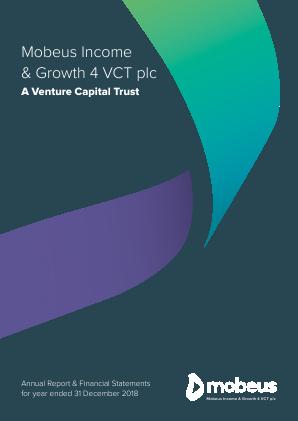 Mobeus Income & Growth 4 VCT Plc annual report 2018