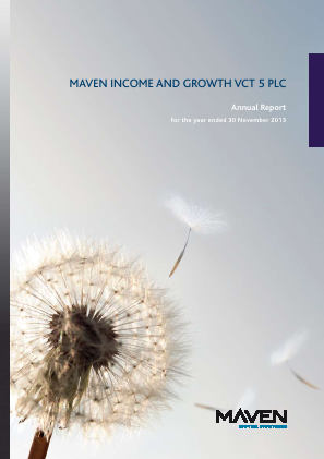 Maven Income & Growth VCT 5 Plc annual report 2013