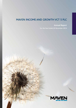 Maven Income & Growth VCT 5 Plc annual report 2014