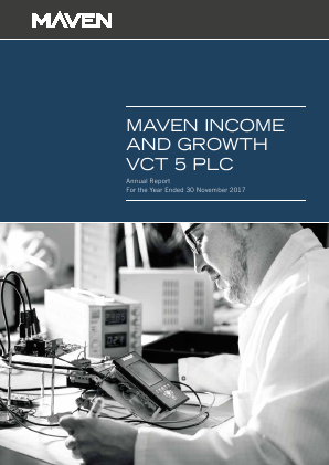 Maven Income & Growth VCT 5 Plc annual report 2017