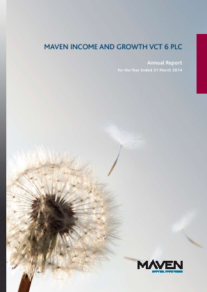 Maven Income & Growth VCT 6 Plc annual report 2014