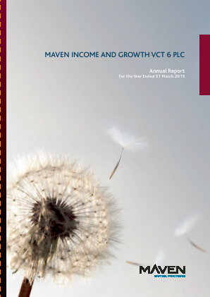 Maven Income & Growth VCT 6 Plc annual report 2015