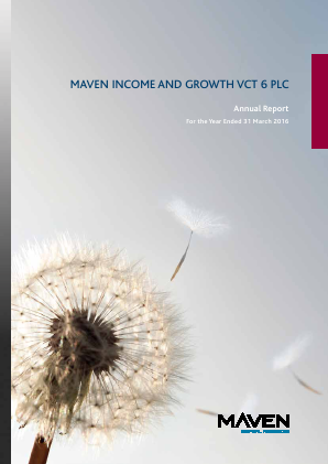 Maven Income & Growth VCT 6 Plc annual report 2016