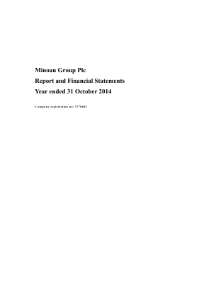 Minoan Group annual report 2014