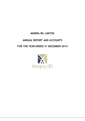 Minera IRL annual report 2014