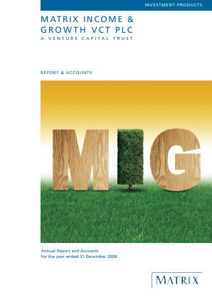 Mobeus Income & Growth VCT Plc annual report 2008