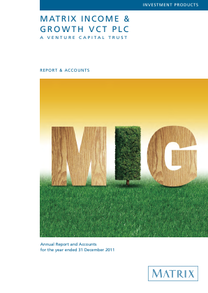 Mobeus Income & Growth VCT Plc annual report 2011