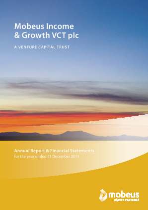 Mobeus Income & Growth VCT Plc annual report 2015