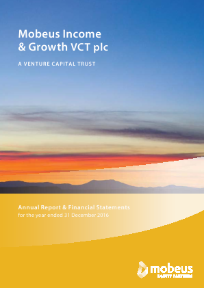 Mobeus Income & Growth VCT Plc annual report 2016