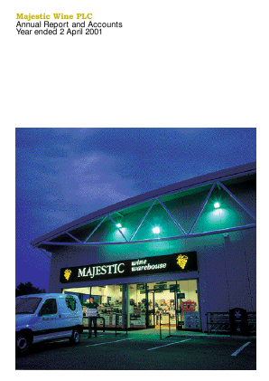 Majestic Wine Plc annual report 2001