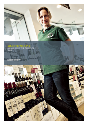 Majestic Wine Plc annual report 2008