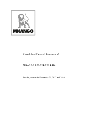 Mkango Resources annual report 2017