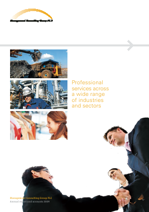 Management Consulting Group annual report 2009