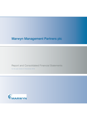 Marwyn Management Partners Plc annual report 2015