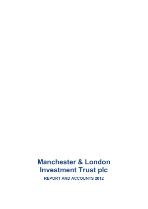 Manchester & London Inv Trust Plc annual report 2012