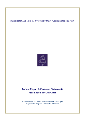 Manchester & London Inv Trust Plc annual report 2016