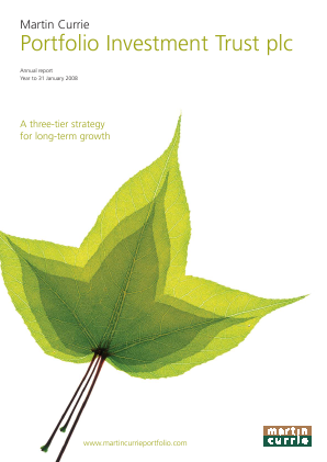 Martin Currie Global Portfolio Trust annual report 2008