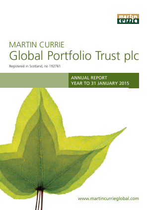 Martin Currie Global Portfolio Trust annual report 2015