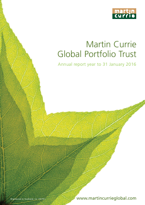 Martin Currie Global Portfolio Trust annual report 2016