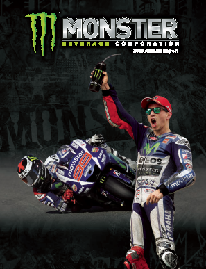 Monster Beverage Corporation annual report 2015