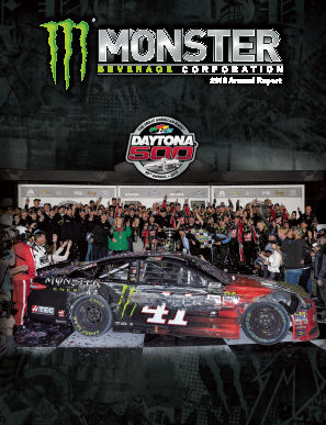 Monster Beverage Corporation annual report 2016