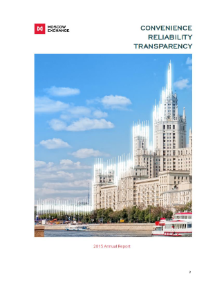 Moscow Exchange MICEX-RTS annual report 2015