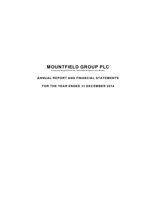 Mountfield Group Plc annual report 2014