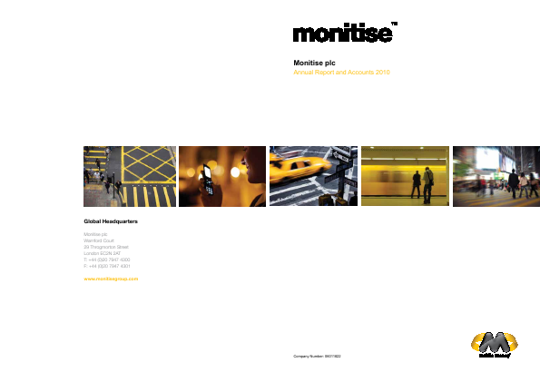 Monitise Plc annual report 2010