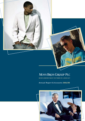 Moss Bros Group annual report 2005