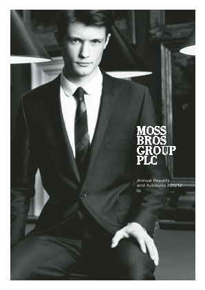 Moss Bros Group annual report 2012