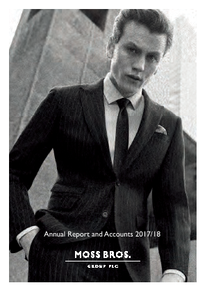 Moss Bros Group annual report 2018