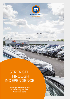 Motorpoint Group annual report 2018
