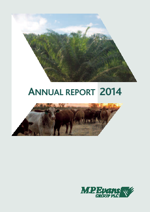 M.P.Evans Group annual report 2014