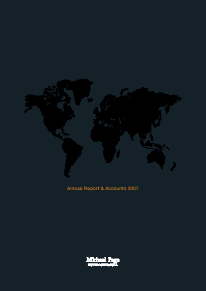 Page Group annual report 2007