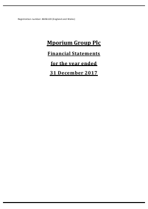 Mporium Group Plc annual report 2017